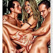 Megan fox, jennifer aniston and paris hilton group hardcore fucking sex.