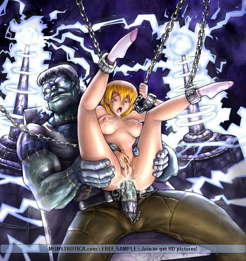 аниме секс фото с монстрами