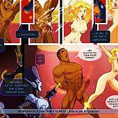 Sexy comics heroes fuck hot babes.