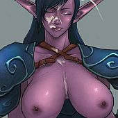 Wow drawn porn with sexy elf babes.