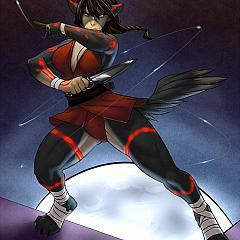 Anime impaled.