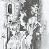 Horror sex art with demons and vampires.