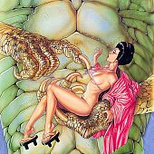 Asian monster erotica drawings.