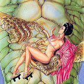 Asian monster erotica drawings.